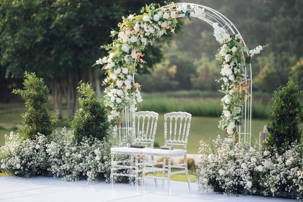 bröllop ute i naturen