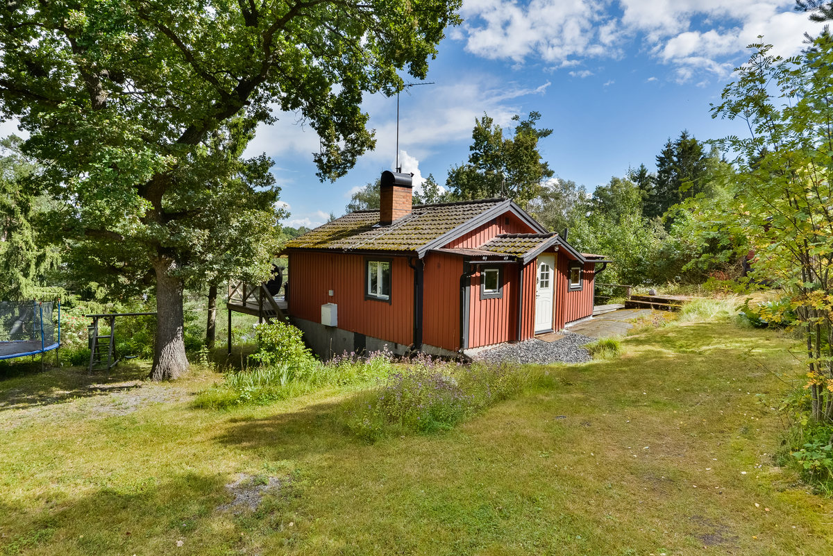 Exteriör hus vid Åkers kanal