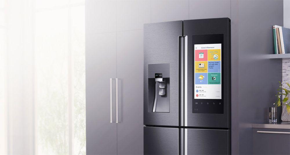 Smart kylskåp med stor display