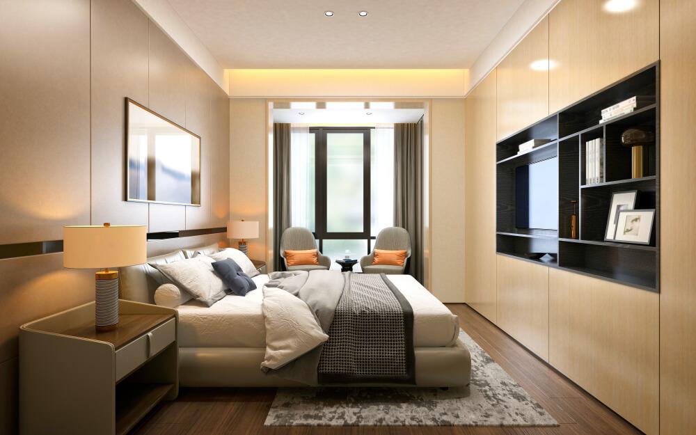 inredning i hotellrum